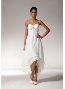 Sexy High Low Hem Casual Beach Wedding Dresses Bmjc890408
