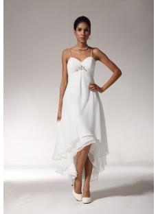 Sexy High-low Hem Casual Beach Wedding Dresses bmjc890408