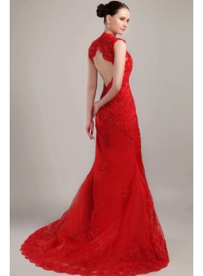 Sheath Red 2013 Bridal Gowns with Keyhole IMG_3162