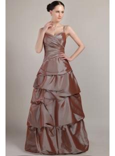 Spaghetti Straps Brown Pretty Dress for 15 IMG_3016