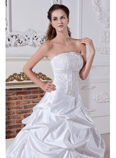 Strapless 2013 Wedding Dresses Bridal Gowns IMG_1972