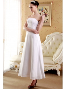 Strapless Elegant Tea Length Short Bridal Gown IMG_3663