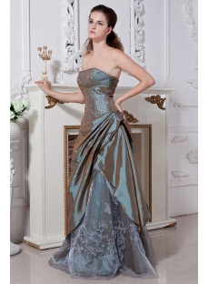 Strapless Sage Cheap Quinceanera Gown IMG_1961
