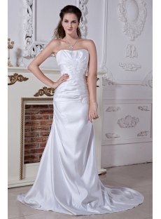 Strapless Simple Affordable Bridal Gown with Corset Back IMG_1932