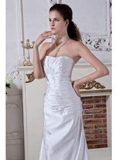 strapless simple affordable bridal gown with corset back