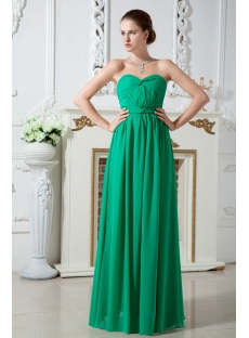 Sweetheart Empire Green Elegant Graduation Dresses IMG_1767