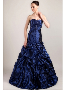 Sweetheart Mermaid Quinceanera Dresses 2013 Blue IMG_3428