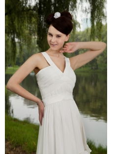 V-neckline Short White Cute Sweet 16 Dress IMG_0719