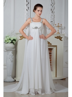 Vintage Straps Wedding Dresses for Mature Brides IMG_1725