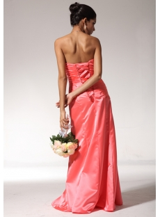Water Melon Strapless Formal Evening Dress with Corset Back bmjc890508