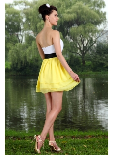 Yellow Colorful Sweet 16 Dress Mini IMG_0731