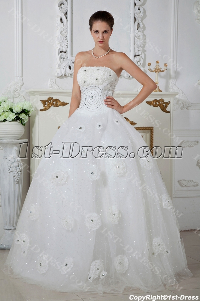 Beautiful Fl Bridal Wedding Ball Gowns Img 1650 Loading Zoom