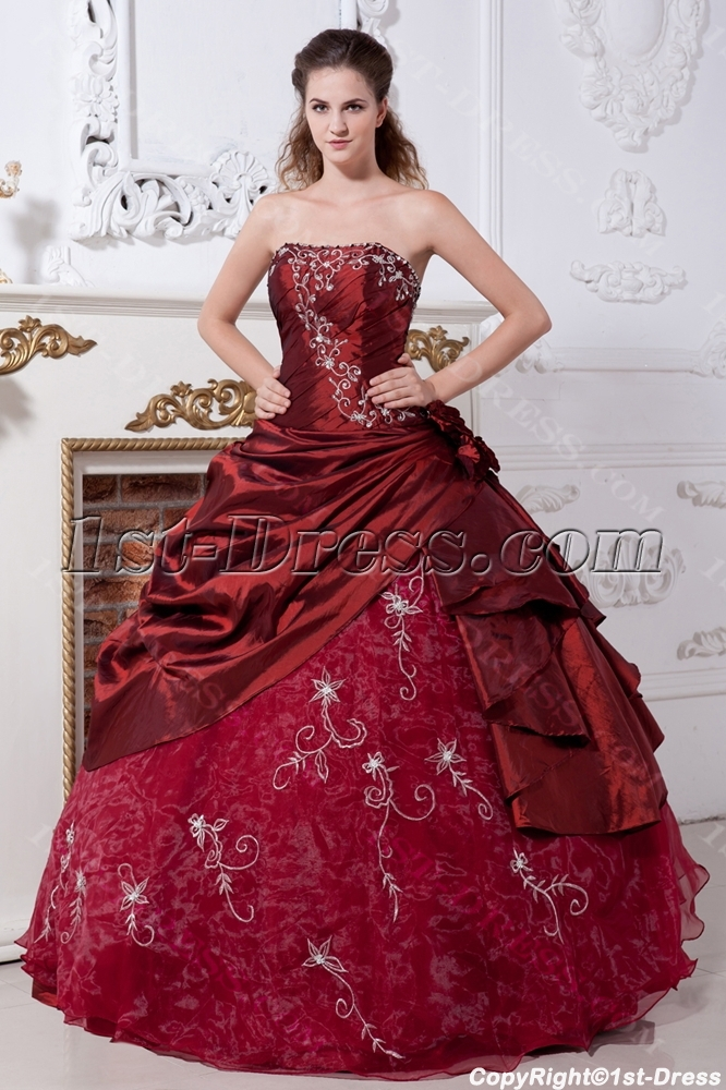 Burgundy Pretty Quinceanera Dresses Cheap Img21311st Dresscom