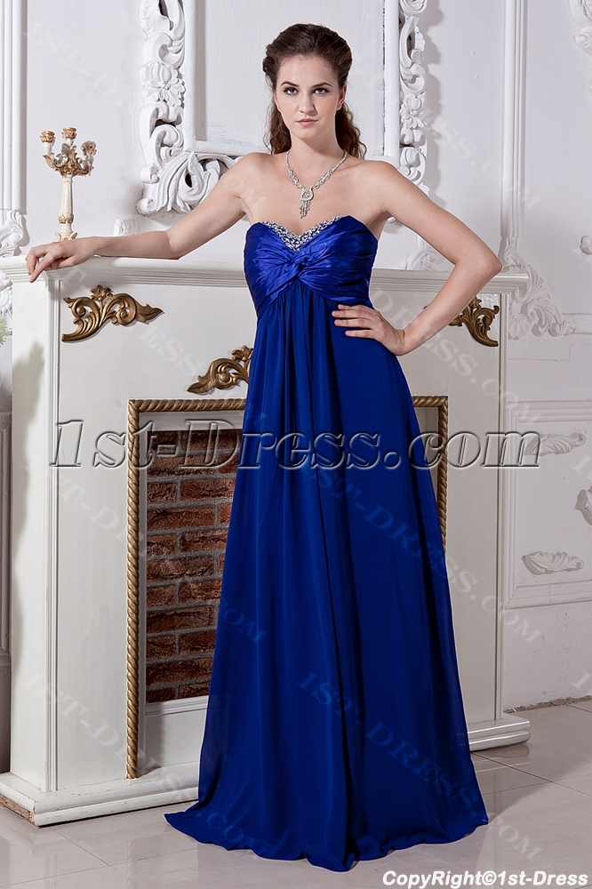 Cheap Long Royal Plus Size Modest Bridesmaid Dresses Img