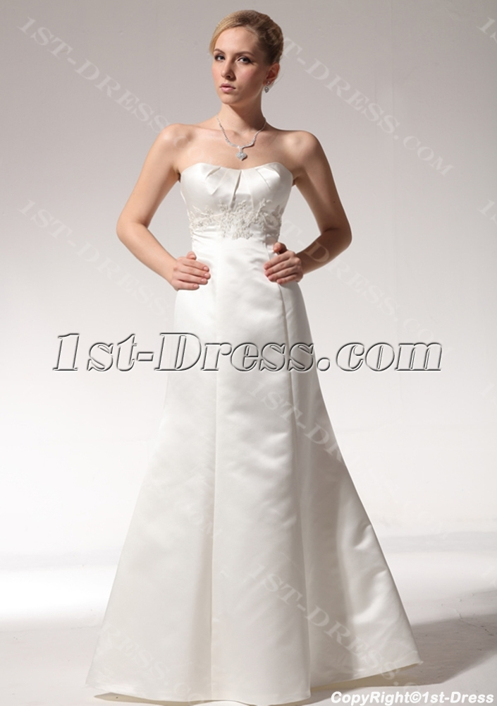 Cheap simple sheath wedding dresses 2011 with sweep train for Cheap sheath wedding dresses