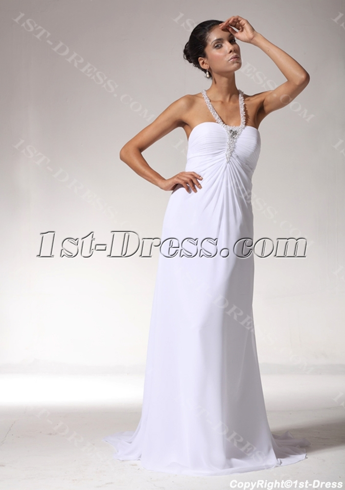 Empire maternity bridal gown with t back bdjc891708 1st for T back wedding dress