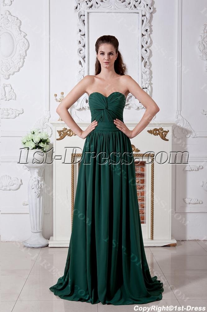 Hunter Green Classic Prom Dresses 2013 IMG_1758:1st-dress.com