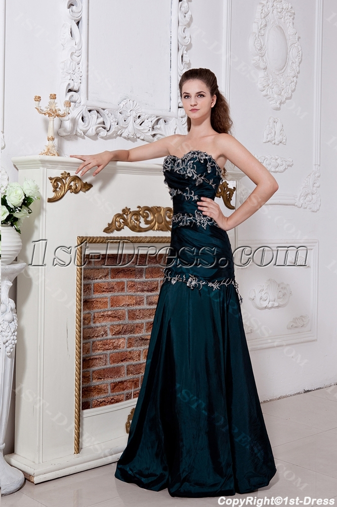 a7abc64029e Hunter Green High School Graduation Dresses with Embroidery IMG 1804 (Free  Shipping)