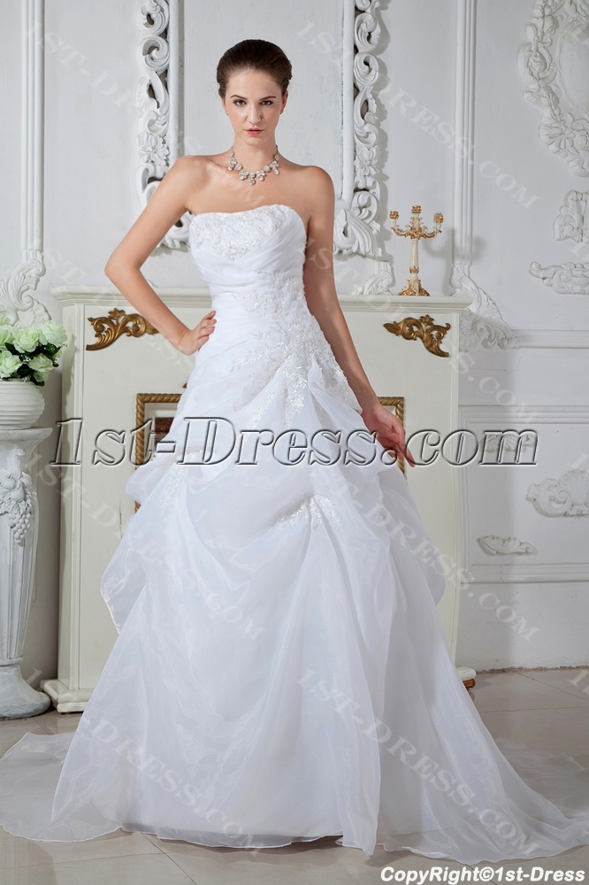 Ivory Strapless Cheap Wedding Dresses Online Australia IMG_1569:1st ...