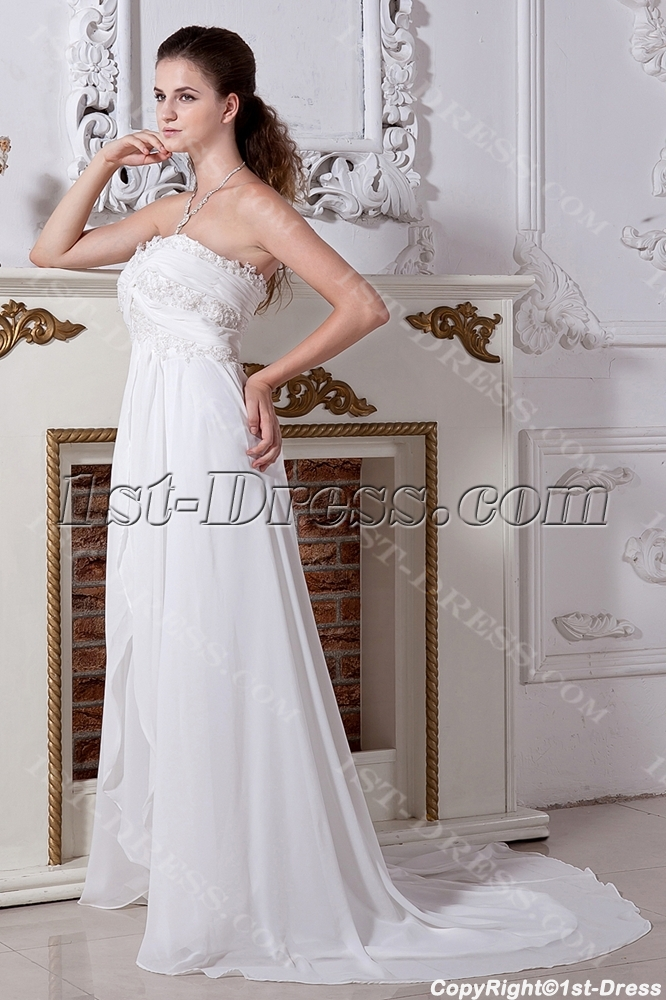 Long Ivory Maternity Wedding Dresses Plus Size with Train IMG_2039 ...