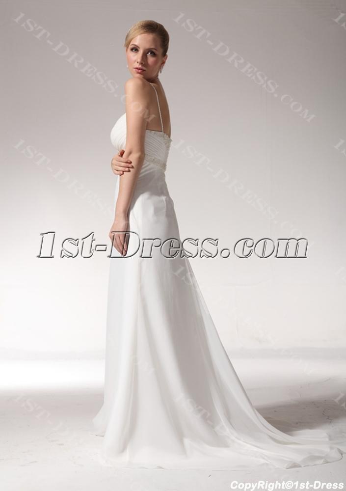 Petite Wedding Dresses.Romantic Beaded Spaghetti Straps Petite Wedding Dress Bdjc890908