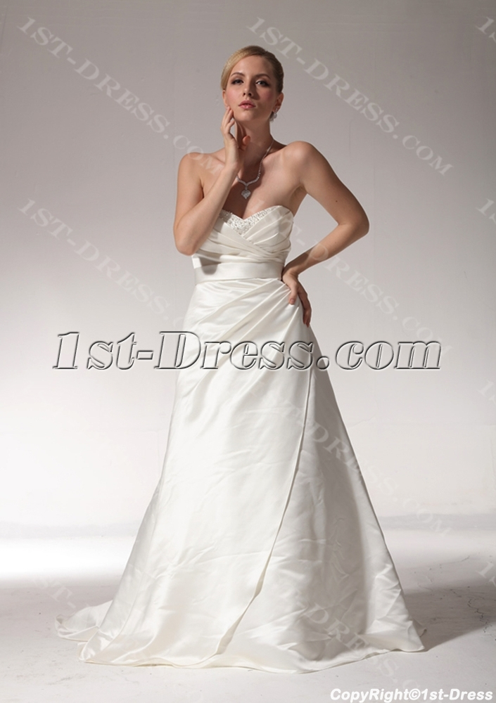 Sweetheart Beautiful Celebrity Wedding Dresses with Sash bdjc891308:www.1st-dress.com