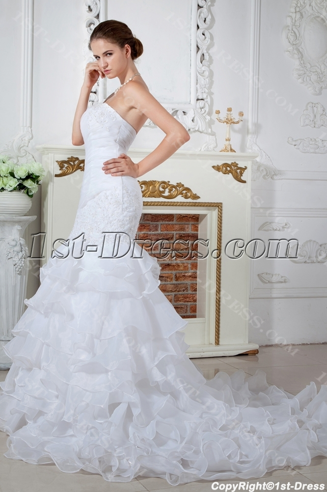 Top Quality Mermaid Wedding Dresses With Lace Up IMG_1692. Loading Zoom