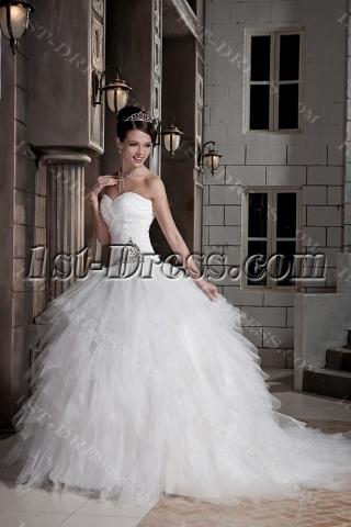 2013 Modest Ball Gown Wedding Dresses GG1092