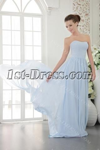 Baby Blue Cheap Chiffon Long Evening Dress 2012 IMG_9553
