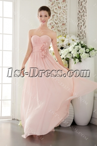 Beautiful Chiffon Pearl Pink Prom Gown 2012 IMG_9518