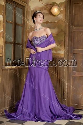 Beautiful Long Purple Prom Dress 2012 GG1017
