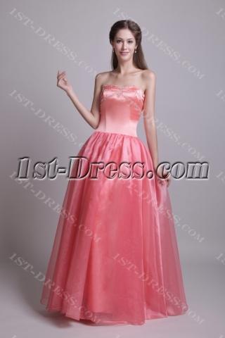 Beautiful Long Simple Sweet 15 Dress IMG_0604
