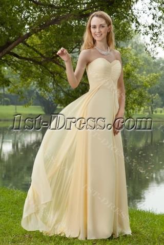 Beautiful Long Yellow Evening Dresses Chiffon 2013 IMG_8259