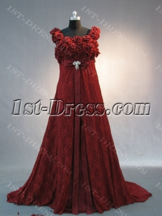 Burgundy Lace Scoop 2012 Prom Dress IMG_2019