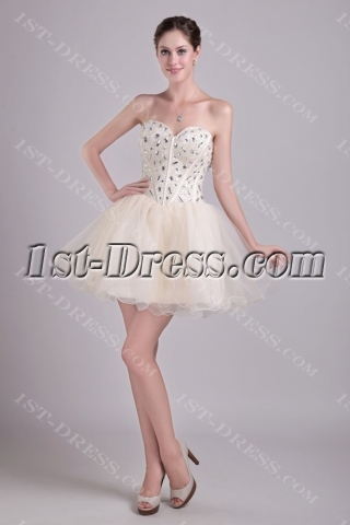 Champagne Short Super Sweet 16 Dresses 0960