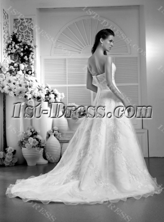 Cheap Long Simple Embroidery Wedding Dress IMG_0027