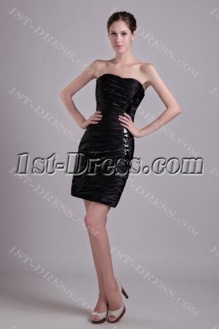 Chic Little Black Short 2011 Prom Dress 1027