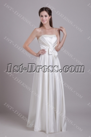 Clearance Ivory Simple Sweet 15 Gown Cheap 0772