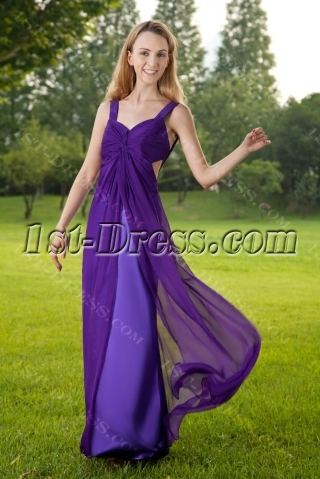 Crossed Straps Long Purple Sexy Prom Dress IMG_8368