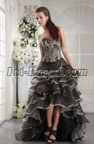 Exclusive Colorful Masquerade Ball Gown with High-low Hem IMG_9915