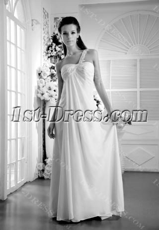 Floor Length Backless Bridal Gown for Beach IMG_9986