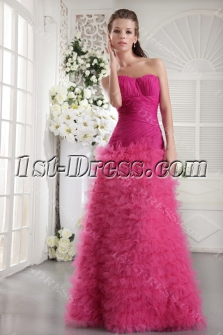 Haute Hot Pink Long Sweet 16 Dress IMG_9925