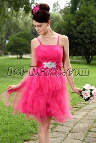 Hot Pink Sweet Short Quinceanera Dresses IMG_0969