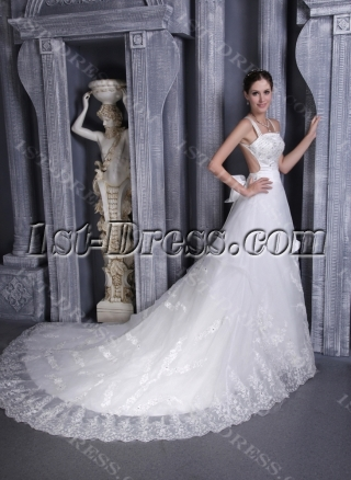 Lace Backless Wedding Dresses for Summer 1132