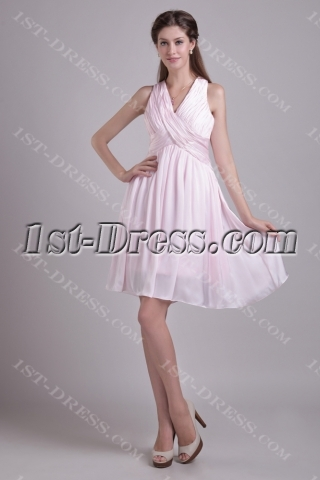 Light Pink Short Crossed Back Homecoming Dress Cheap 0904