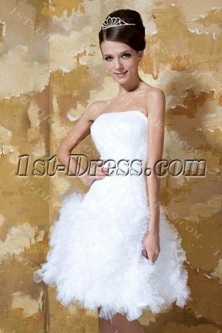 Lovely Informal Short Bridal Gowns 2013 GG1015