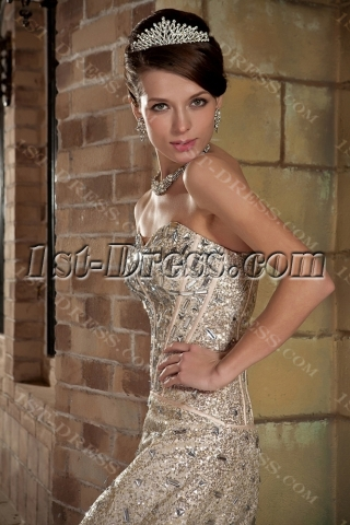 Luxurious Jewel Short Celebrity Prom Dress GG1016
