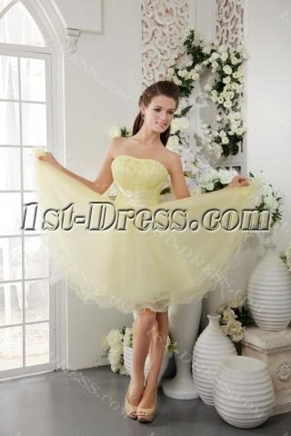 Maize Yellow Short Sweet Sixteen Dresses IMG_0249