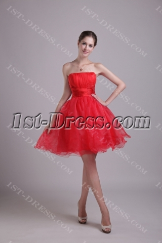 New Arrival Red Puffy Sweet 15 Dresses 1002