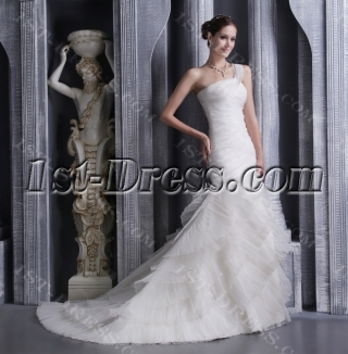 Noble Trumpet 2013 Bridal Gown with One Shoulder 1092